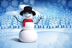 Złożony wizerunek śnieżny mężczyzna Obrazy Royalty Free