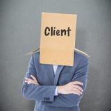 Złożony wizerunek anonimowy biznesmen zdjęcia stock