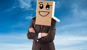 Złożony wizerunek anonimowy biznesmen z rękami krzyżować obrazy stock