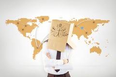 Złożony wizerunek anonimowy biznesmen z rękami krzyżować obraz stock