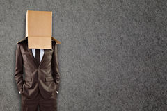 Złożony wizerunek anonimowy biznesmen z rękami w kieszeniach zdjęcia stock