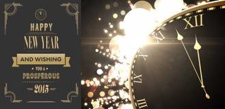 Złożony wizerunek art deco nowego roku powitanie Zdjęcia Stock