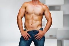 Złożony wizerunek atrakcyjny bodybuilder fotografia stock