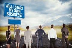 Złożony wizerunek biznes drużyna Zdjęcie Royalty Free
