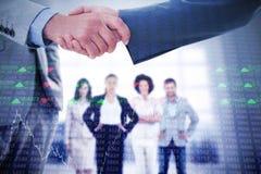 Złożony wizerunek biznesowy uścisk dłoni Obraz Stock