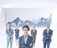 Złożony wizerunek bizneswomanów kolegów ręka krzyżująca Zdjęcia Stock