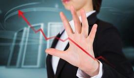 Złożony wizerunek bizneswomanu przedstawiać Obraz Stock