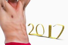 Złożony wizerunek bodybuilder fotografia royalty free