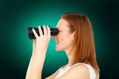 Złożony wizerunek charyzmatyczny bizneswomanu przepowiadania przyszłości sukces Zdjęcie Stock