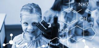 Złożony wizerunek złożony wizerunek chemiczna struktura fotografia royalty free