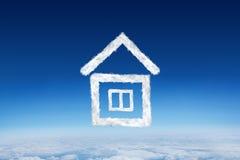 Złożony wizerunek chmura dom Zdjęcie Royalty Free