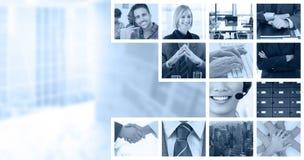 Złożony wizerunek chwianie ręki nad oko dzienniczkiem po biznesowego spotkania i szkłami Obraz Royalty Free