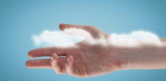 Złożony wizerunek cropped ręka kobieta 3d Obrazy Royalty Free