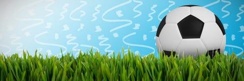 Złożony wizerunek czarny i biały futbol ilustracji
