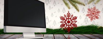 Złożony wizerunek dekoracje na drzewie Obraz Royalty Free
