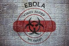 Złożony wizerunek ebola wirusa ostrzeżenie Zdjęcia Stock