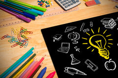 Złożony wizerunek edukacj doodles Obrazy Royalty Free