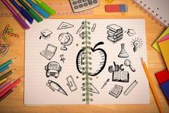 Złożony wizerunek edukacj doodles Obrazy Stock