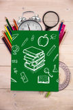 Złożony wizerunek edukacj doodles Zdjęcie Stock
