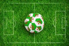 Złożony wizerunek futbol w Algeria colours royalty ilustracja