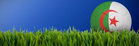 Złożony wizerunek futbol w Algeria colours ilustracji