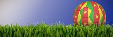 Złożony wizerunek futbol w Cameroon colours ilustracja wektor
