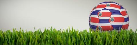 Złożony wizerunek futbol w costa rica colours ilustracja wektor