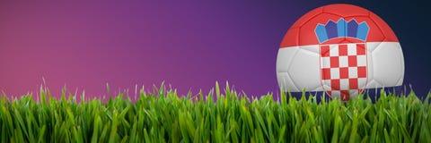 Złożony wizerunek futbol w Croatia colours royalty ilustracja