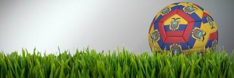 Złożony wizerunek futbol w Ecuador colours ilustracji