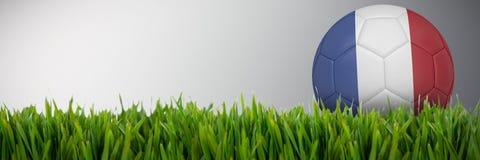 Złożony wizerunek futbol w France colours royalty ilustracja