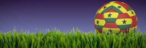Złożony wizerunek futbol w Ghana colours ilustracja wektor
