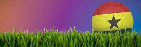 Złożony wizerunek futbol w Ghana colours ilustracji