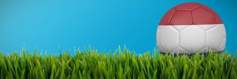 Złożony wizerunek futbol w Holland colours ilustracja wektor