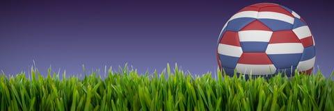 Złożony wizerunek futbol w Holland colours ilustracji