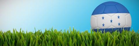 Złożony wizerunek futbol w Honduras colours royalty ilustracja