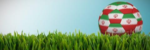 Złożony wizerunek futbol w Iran colours ilustracja wektor