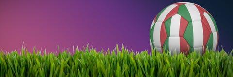 Złożony wizerunek futbol w Italy colours royalty ilustracja