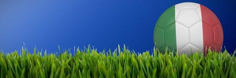 Złożony wizerunek futbol w Italy colours ilustracja wektor