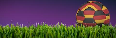 Złożony wizerunek futbol w niemieckich colours ilustracja wektor