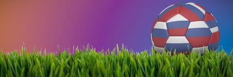 Złożony wizerunek futbol w Russia colours ilustracji