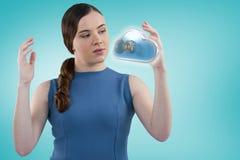 Złożony wizerunek gestykuluje 3d młoda kobieta Obraz Royalty Free