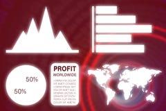 Złożony wizerunek graficzny wizerunek biznesowa prezentacja z mapami i mapą Obraz Royalty Free