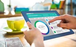 Złożony wizerunek graficzny wizerunek konto bankowe strona internetowa Fotografia Stock
