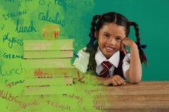 Złożony wizerunek ilustracja tekst na zielonym chalkboard Zdjęcie Stock