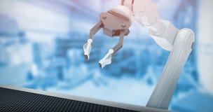 Złożony wizerunek kruszcowy pazur mechaniczna ręka 3d Zdjęcie Royalty Free