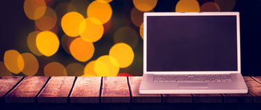 Złożony wizerunek laptop Zdjęcia Stock