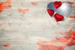 Złożony wizerunek love serca wzór Fotografia Royalty Free
