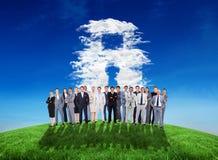 Złożony wizerunek ludzie biznesu trwanie up Zdjęcie Stock