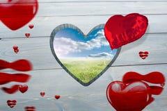 Złożony wizerunek miłości serca wzór Fotografia Royalty Free