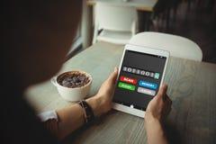 Złożony wizerunek mobilny pokaz z pamięci cleaner Zdjęcie Stock